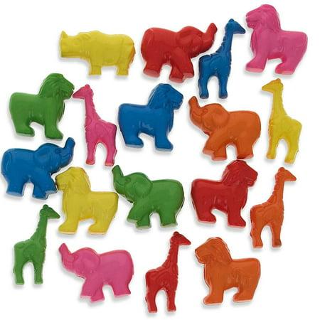 Set of 200 Elephant, Lion, Giraffe Zoo Animal Pony - Elephant Beads