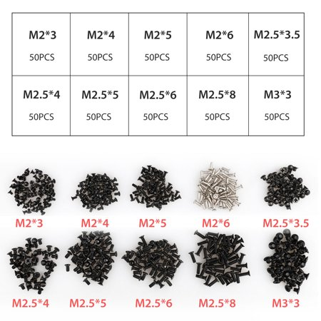 500Pcs Laptop Notebook Computer Screws Replacement Kit for HP IBM Dell Sony Acer Asus Lenovo Toshiba Gateway Samsung (Laptop Upgrade Kit)