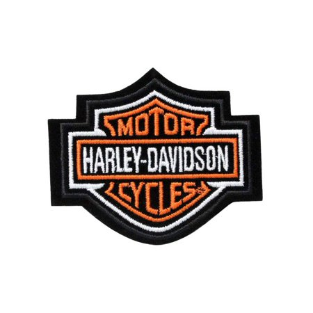 Harley-Davidson Orange Bar & Shield Patch XS 2 3/4'' x 2 1/4'' EMB302381, Harley Davidson ()