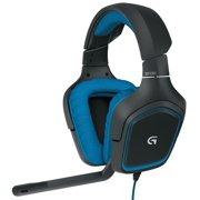 Gaming Headset Mic, Logitech G430 Pc Laptop Home Wired Gaming Headset,  Blue