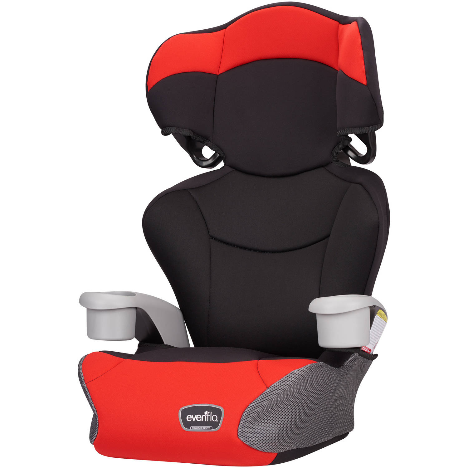 Evenflo Big Kid High-Back Booster Car Seat, Cardinal Red