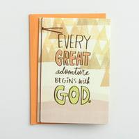 DaySpring  -  Graduation - Adventure Begins with God - 3 Premium Cards