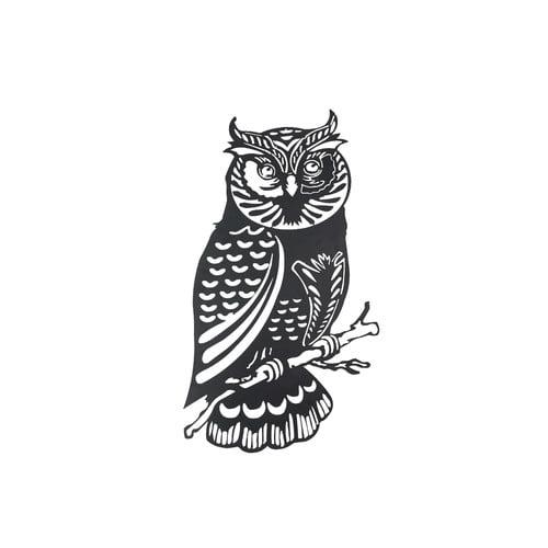 Metal Owl Wall Decor sunjoy 110311015 laser-cut metal owl wall decor, black finish, 41