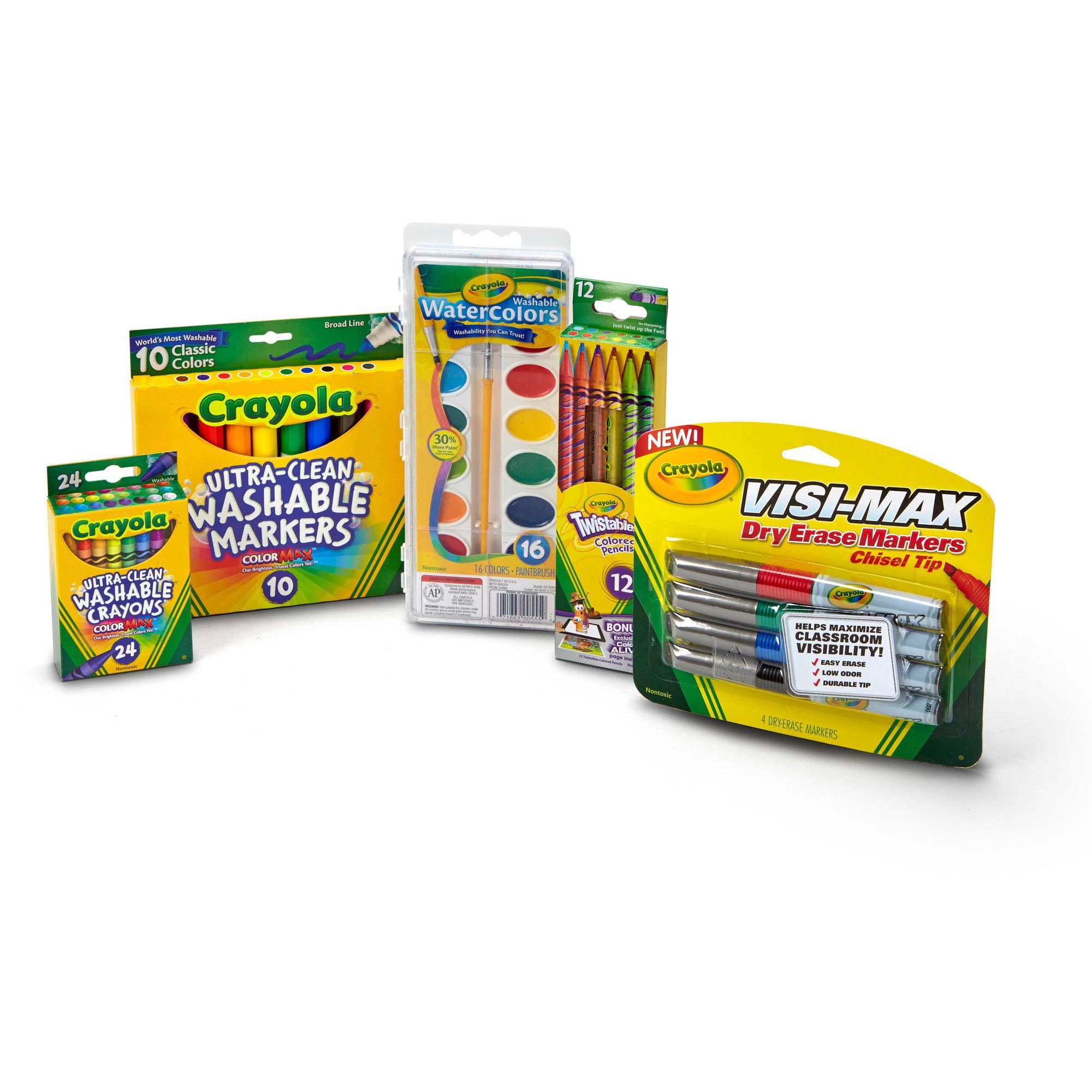 Crayola Back to School Art Set, Kids School Supplies, 60+ Pieces by Crayola