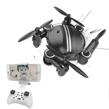 Mini RC Quadcopter 2.4GHz 4CH 6-Axis Gyro 3D UFO Drone FPV WIFI Nano Camera BK