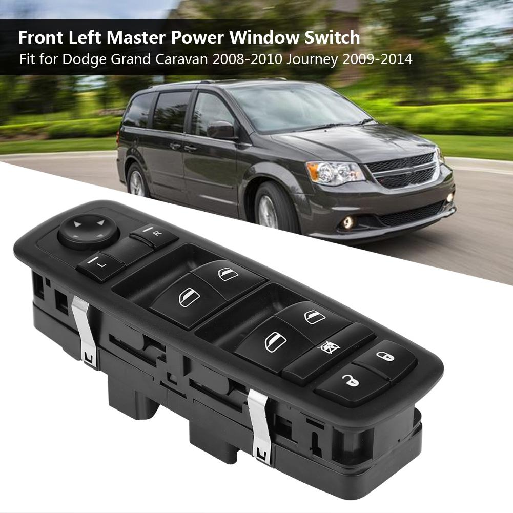 Master Power Window Switch Front Left Driver Side For Dodge Journey Grand Caravan Chrysler Jeep Liberty Replaces 68039999AC 68039999AB 68039999AA
