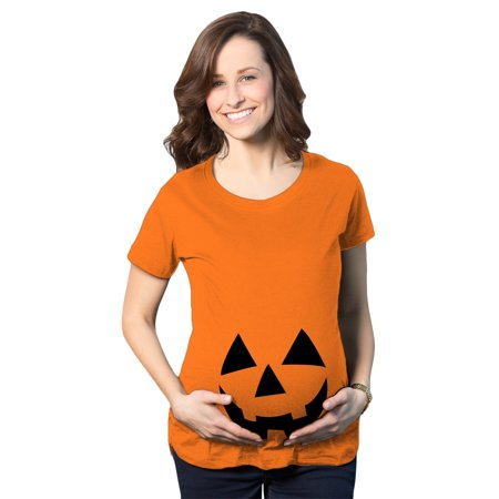 Maternity Happy JackOLantern Pregnancy Tshirt Cute Halloween Baby Bump Tee