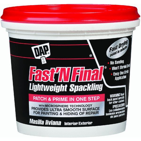 Dap 12143 1 Gallon Fast'N Final Spackling Interior & Exterior