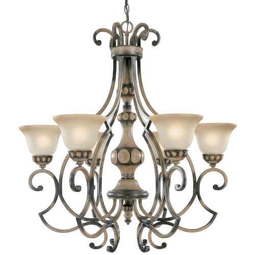Classic Lighting Westchester 6-Light Shaded Chandelier