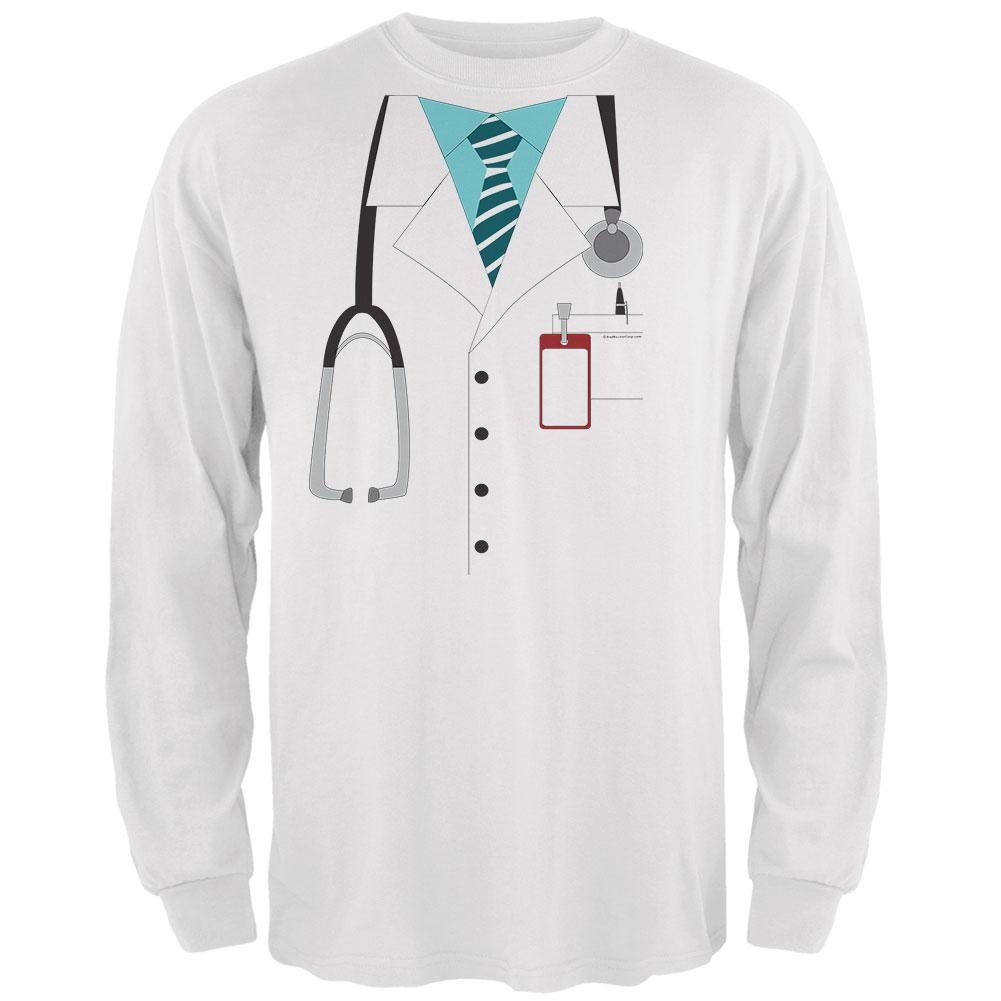 Halloween Doctor Costume Mens Long Sleeve T Shirt
