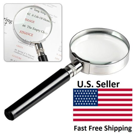 CableVantage New 10X Magnification Handheld Magnifier Magnifying Glass Handle 50mm 2inch US Seller fast Shipping