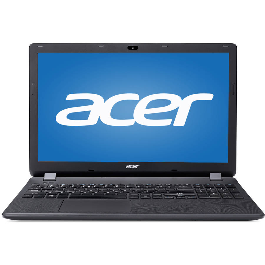 "Acer Diamond Black 15.6"" Aspire ES1-512-C1PW Laptop PC with Intel Celeron N2840 Processor, 4GB Memory, 500GB Hard Drive and Windows 10"