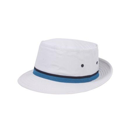 17eb83bf49f68b Top Headwear Packable Pork Pie Ribbon Bucket Hat - Light Blue - X-Large ...