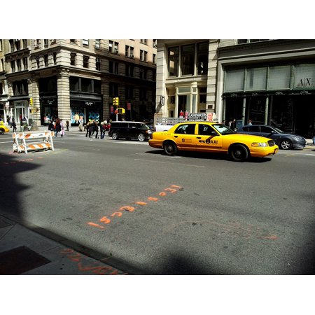 Poster New York Taxi.Laminated Poster Taxi New York Taxi Yellow Cab New York Cab City