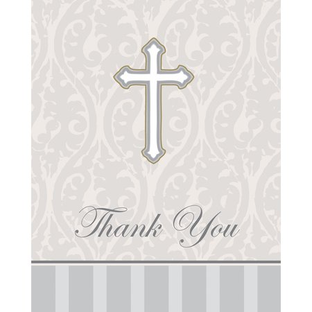 - Club Pack of 96 Gray Devotion Religious Themed Thank You Note Cards 5