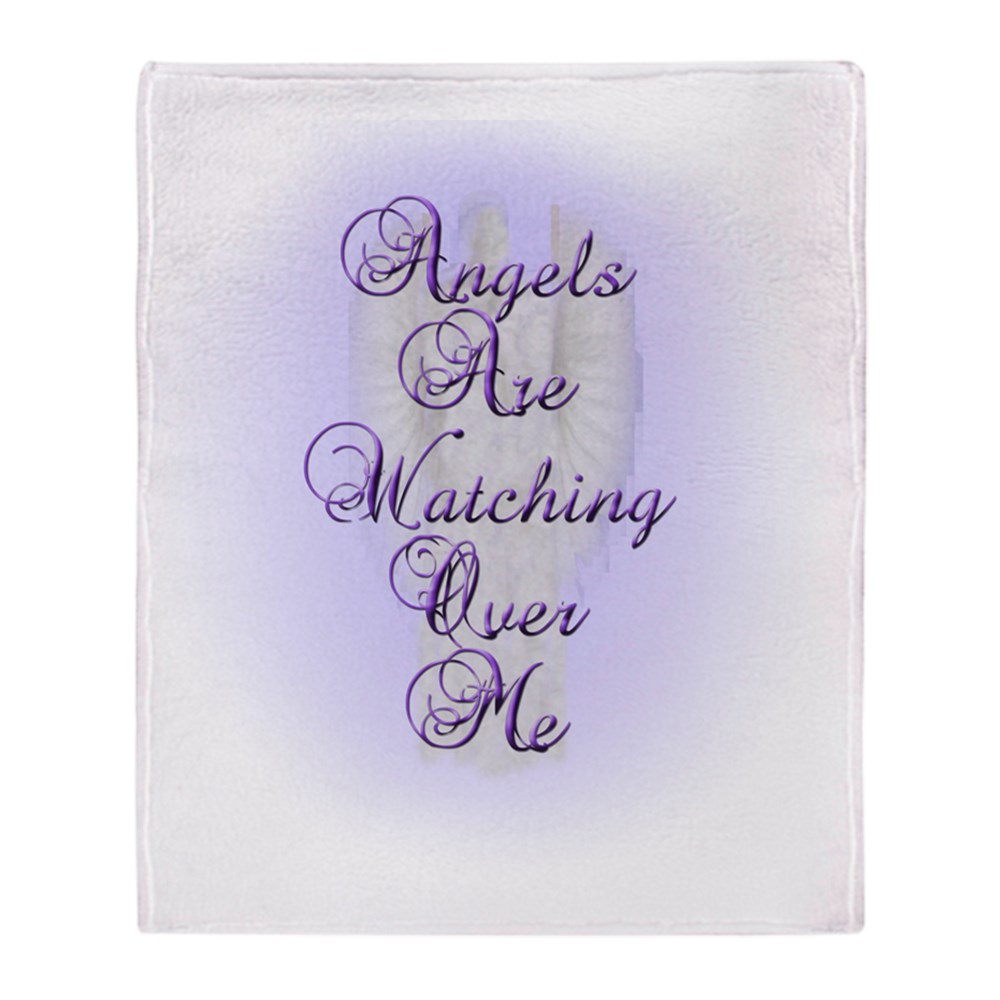 "CafePress Angels Are Watching Over Me Copy Soft Fleece Throw Blanket, 50""x60""... by"