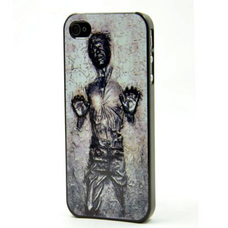 Ganma Han Solo Frozen in Carbonite Case For iPhone 4 4S Black Case STAR WARS + Screen (Han Solo Frozen In Carbonite Refrigerator Doors)