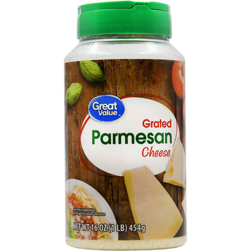 Great Value Grated Parmesan Cheese, 16 oz