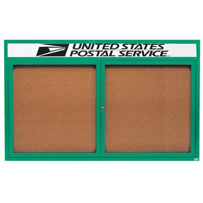Aarco Products Enclosed Bulletin Board with Header