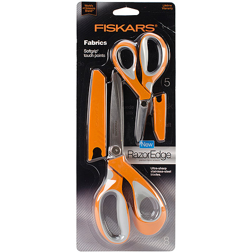 "Fiskars RazorEdge Softgrip Fabric Scissors, 5"" and 8"""