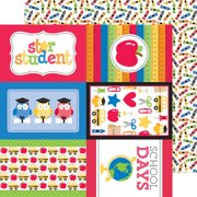 School Double-Sided Cardstock 12 Inch X 12 Inch-Crayon Box
