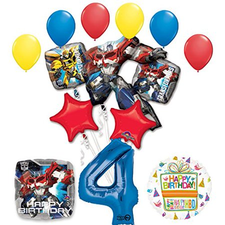The Ultimate Transformers 4th Birthday Party Supplies and Balloon Decorations - Transformers Birthday
