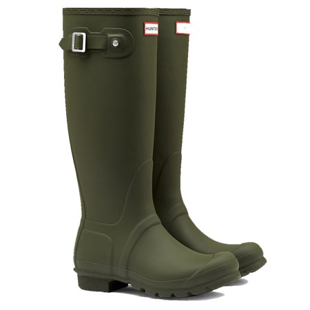 Hunter Women's Original Tall Rain Boots (Dark Olive/ Size 6) - Hunter Boots Child