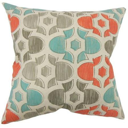 Brayden Studio Kroger Geometric Floor Pillow