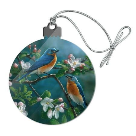 Eastern Bluebirds Blue Birds Thrush Acrylic Christmas Tree Holiday Ornament