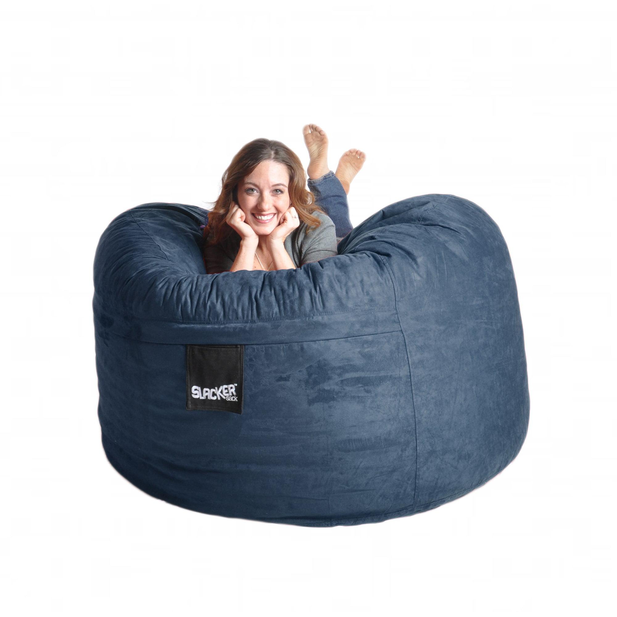 Slacker Sack Navy Blue Microfiber and Memory Foam 5-foot Bean Bag