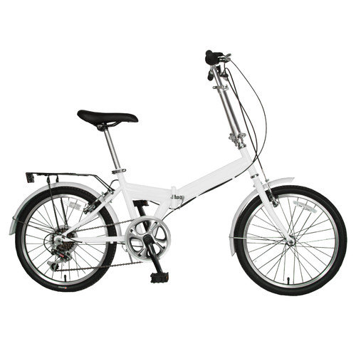 "20"" Cycle Force Folding Bike, White"