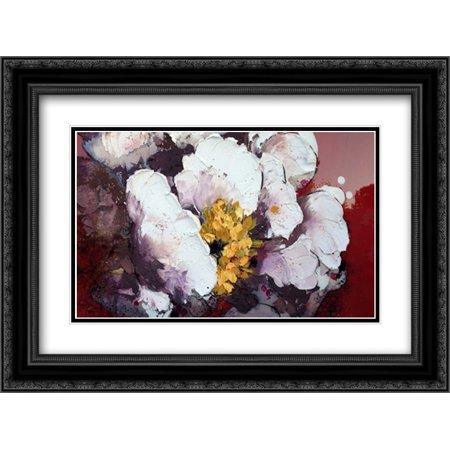 Nib Matt (Bruciato 2x Matted 24x18 Black Ornate Framed Art Print by Beletti,)