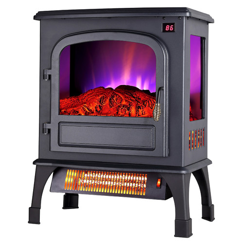 "Pro Fusion Heat FP203R-T3Q 20"" 750/1500 Watt Electric Stove With Remote, Digital Display & Thermostat"