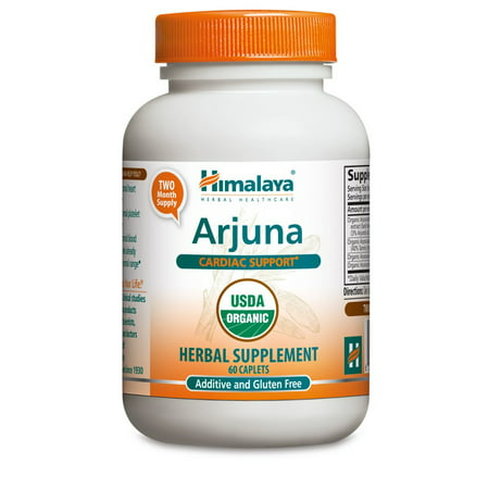 Himalaya Herbals Organic Arjuna for Cholesterol, Blood Pressure & Healthy Heart Function Support, 700mg, 60 Ct