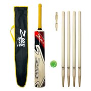 Cricket Bat Complete Kit for Kids Age 8-14 years Red Color Outdoor Summer Sports