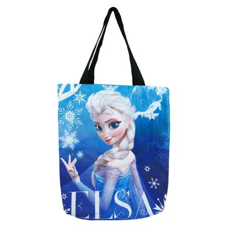 Frozen Elsa Disney Animated Movie Sublimated Blue Shoulder Canvas Tote Bag](Frozen Merchandise For Adults)
