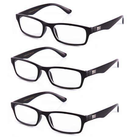 IG Unisex Clear Lens Plastic Fashion (Black And Yellow Glasses)