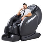 Massage Chair Recliner Zero Gravity Full Body Electric Shiatsu with Built-In Heat Therapy and Foot Roller Air Massage System Yoga Stretch FDA Approved -