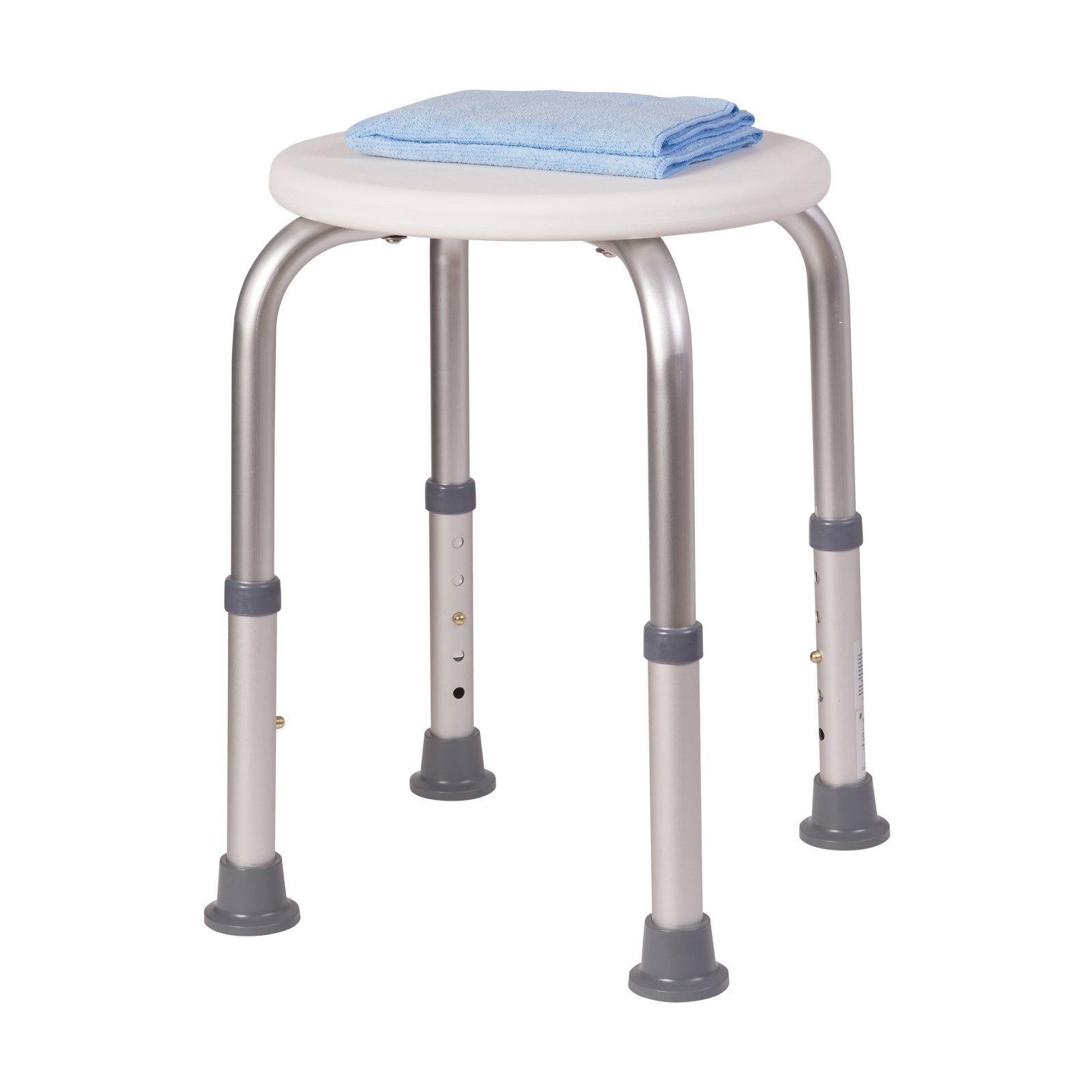 Ordinaire HealthSmart Extra Compact Lightweight Shower Stool With Adjustable Height,  Excellent For Small Showers And Bathtubs, RVs And Boats, White