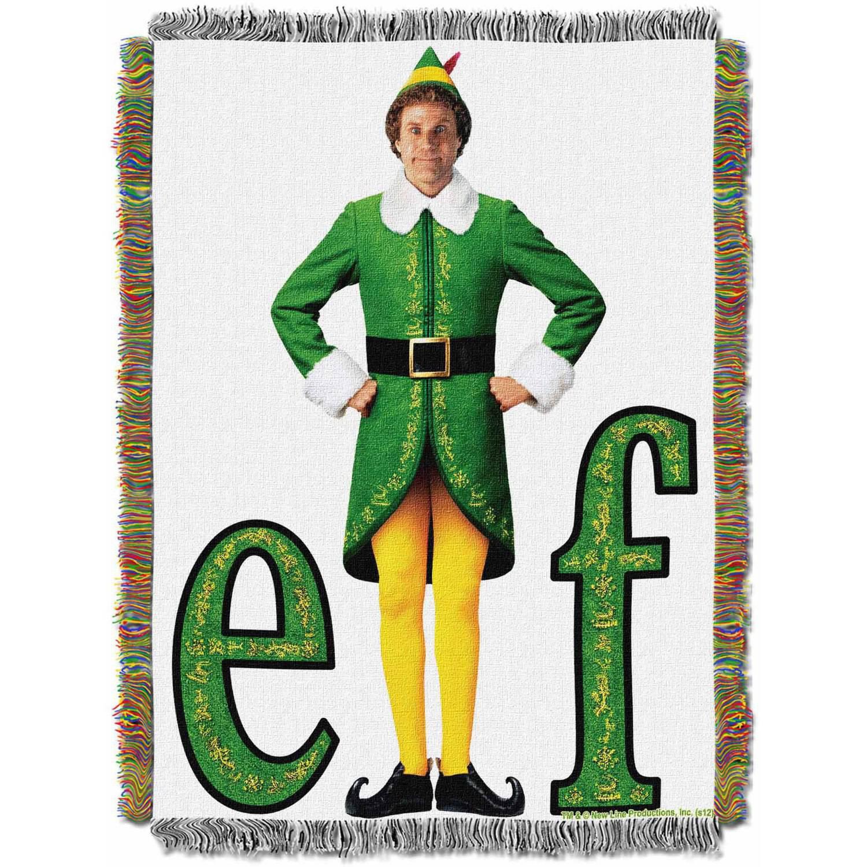 "Warner Bros. Elf ""Elf Pose"" 48"" x 60"" Woven Tapestry Throw"