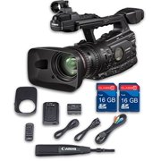 Canon XF300 HD Professional Camcorder + 2 PC 16 GB Memory Cards + All Manufacturer Accessories - International Version