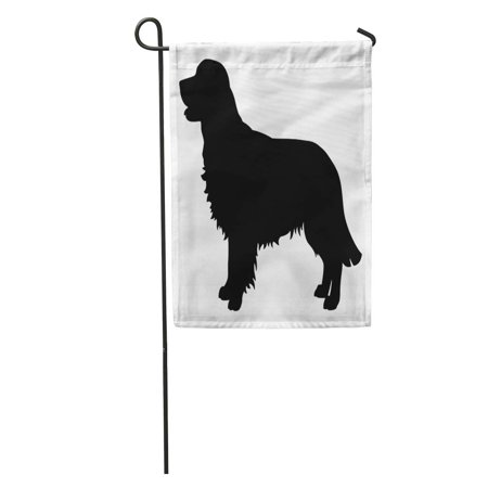- LADDKE Golden Retriever Purebred Dog Standing in Side View Silhouette Realistic Garden Flag Decorative Flag House Banner 12x18 inch