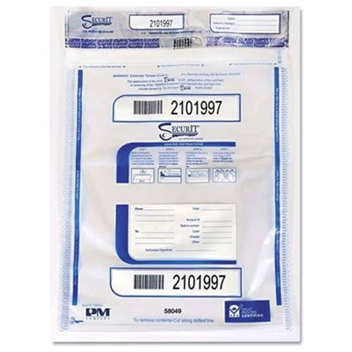 "Pm Tamper-evident Deposit Bag - 9"" X 12"" - 100/pack - Clear (58048)"