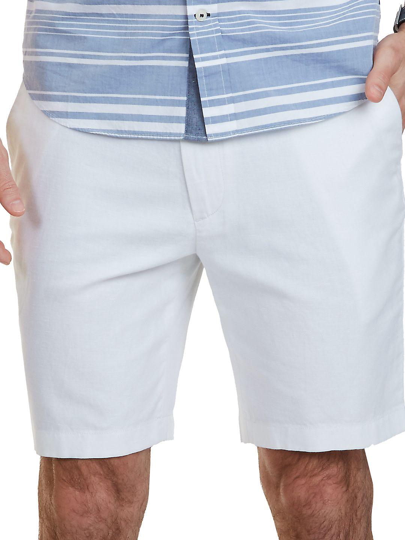 Classic Fit Cotton-Linen Blend Shorts