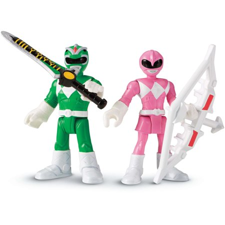 Power Ranger Party City (Imaginext Power Rangers Green Ranger & Pink)
