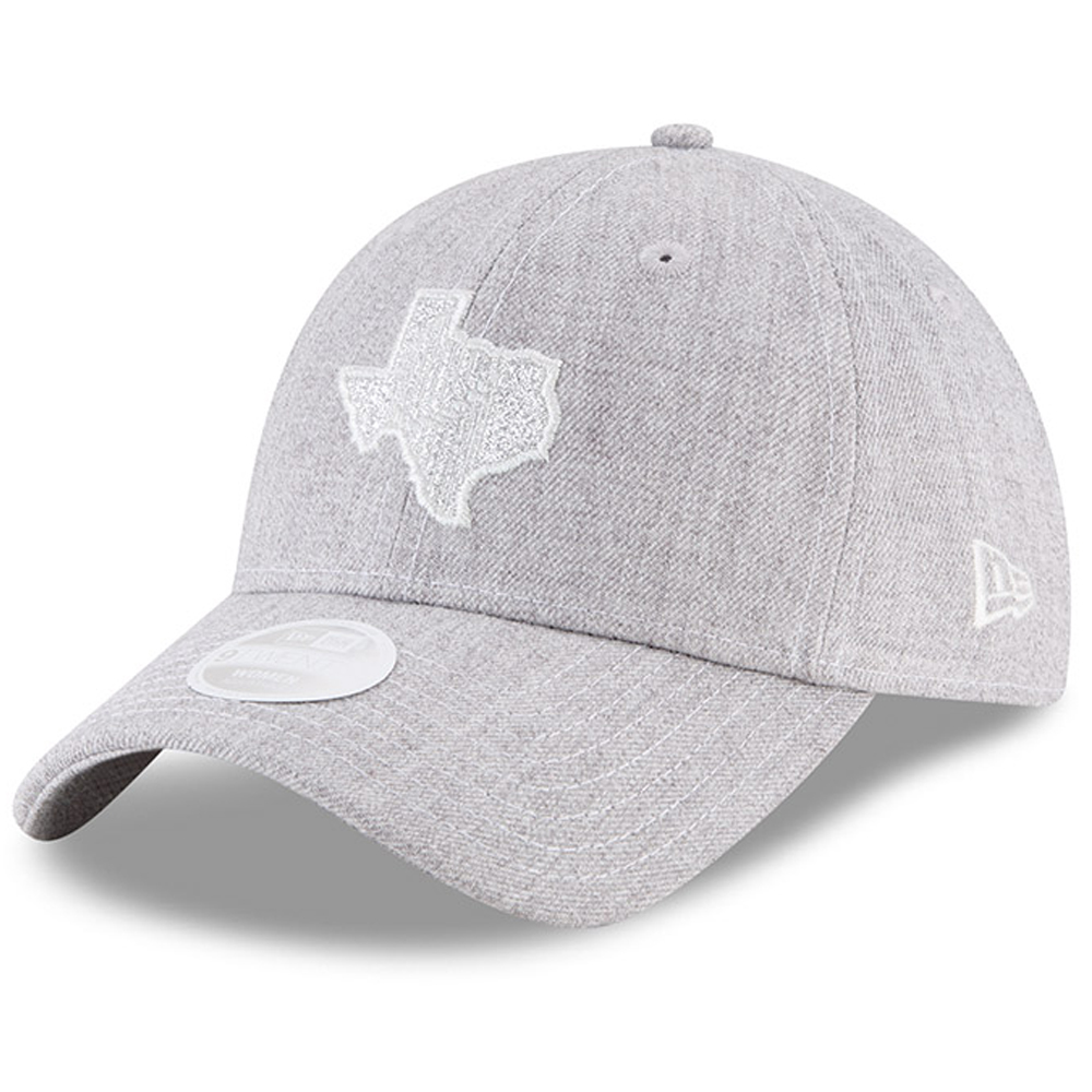 Houston Astros New Era Women's 2017 World Series Champions State 9TWENTY Adjustable Hat - Heathered Gray - OSFA