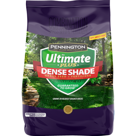 Pennington The Ultimate Plus Grass Seed and Fertilizer for Dense Shade Areas; 3