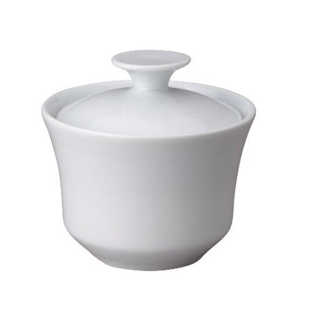 Harold Import Company Porcelain 9 Oz. Sugar Bowl with Lid, White