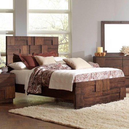 Coaster Wood Eastern King Bed With Golden Brown Finish 200851Ke