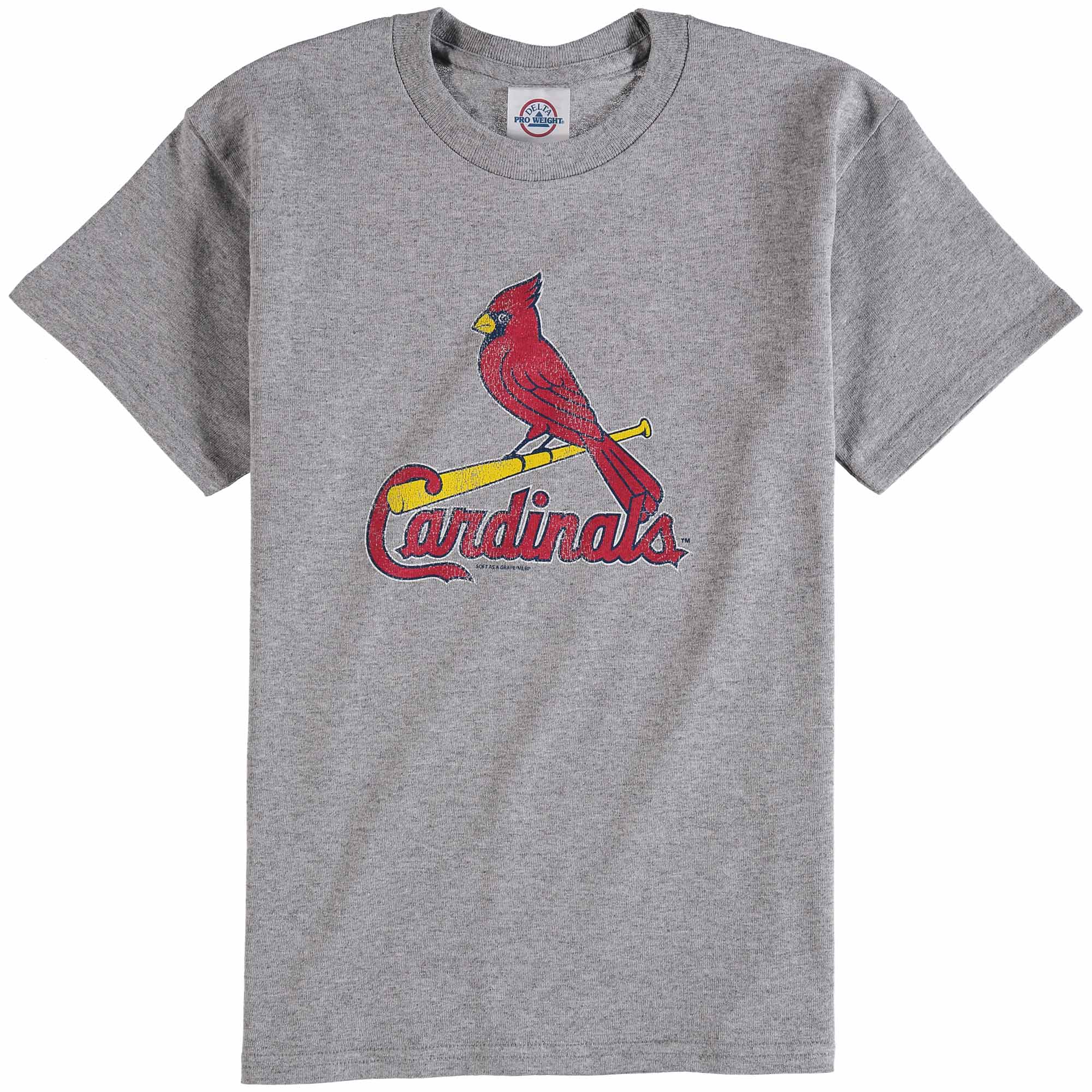 St. Louis Cardinals Youth Distressed Logo T-Shirt - Gray